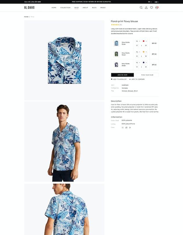 Alohan | Minimalist Fashion PSD Template - product preview 4