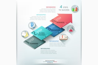 Thumbnail for 3 Isometric Infographic Arrows