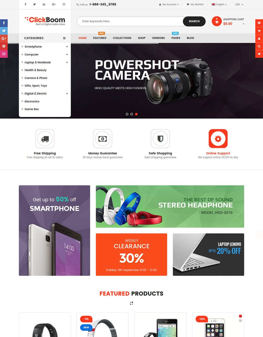 ClickBoom - Responsive Multipurpose Shopify Theme - product preview 1