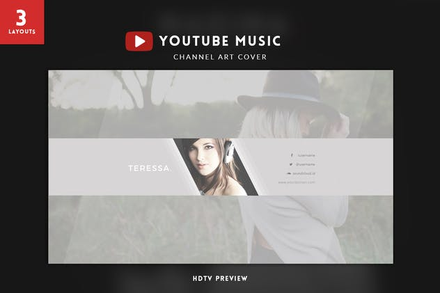 Youtube Music Channel Art - product preview 3