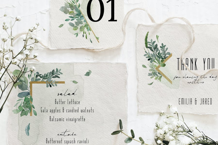 Gold & Greenery Wedding Suite - product preview 1