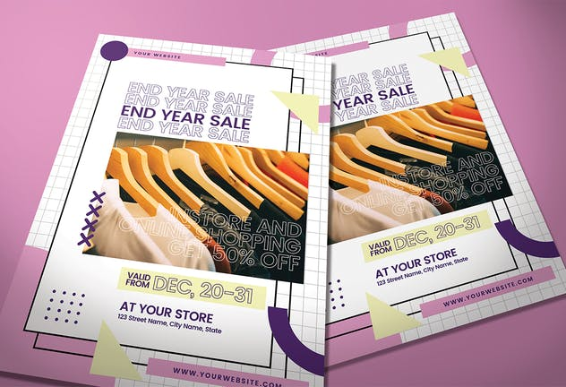 End Year Sale - Flyer Media Kit - product preview 2