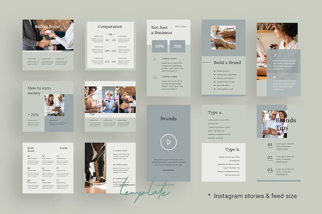 Tips & Tutorial Instagram Templates for Finance v2