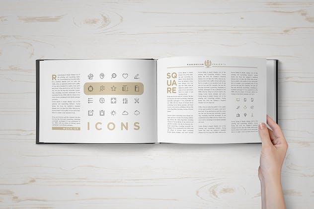 Landscape Book Mock-Up Set 2 - product preview 6