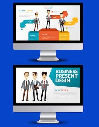 Миниатюра для Шаблон презентации Powerpoint для бизнеса