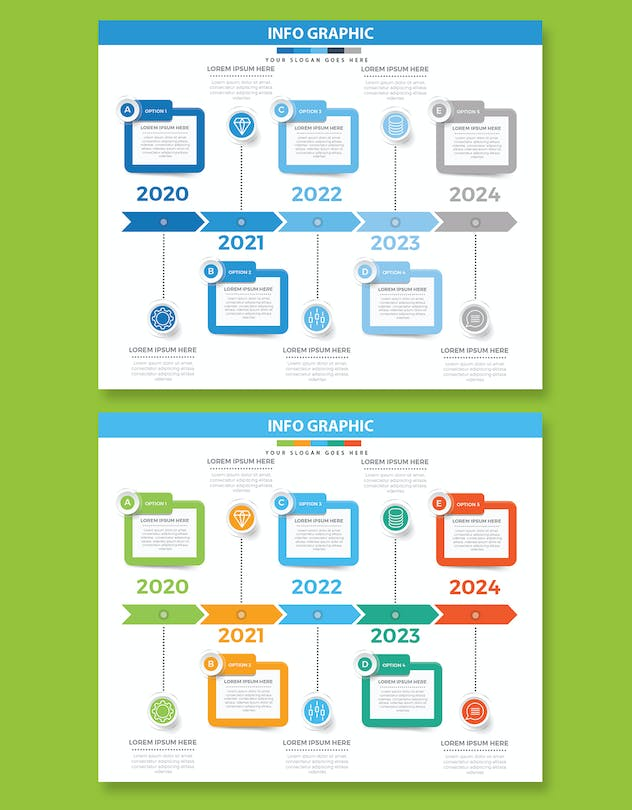 Timeline Infographics design - product preview 1