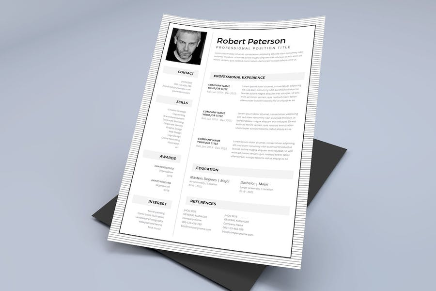 Resume / CV Template Pro - product preview 3