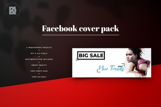 Thumbnail for Fashion Facebook Cover Pack