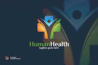 Thumbnail for Human Health / Cross - Logo Template