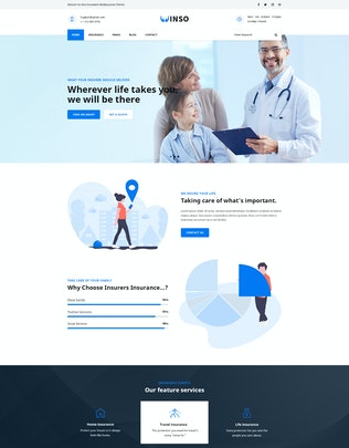 Thumbnail for Vinso | Insurance PSD Template