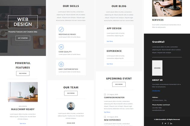 GrandMail - Responsive Email + StampReady Builder - product preview 1