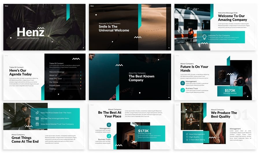Henz - Agency Keynote Template - product preview 1