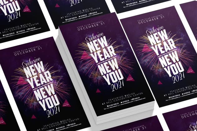 New Year Party Flyer - product preview 2