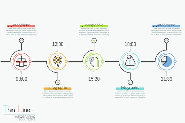 Ultimate Thin Line Infographic - product preview 12