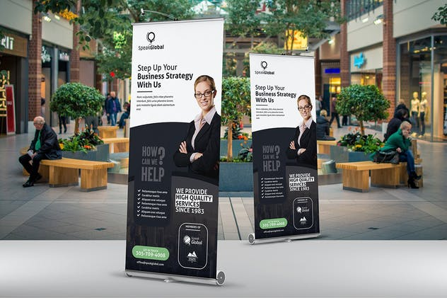 Business Roll Up Banner Template - product preview 3