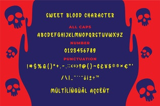 Thumbnail for Sweet Blood - Horror Typeface