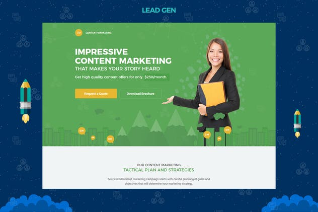 Content Marketing Unbounce Landing Page - product preview 1
