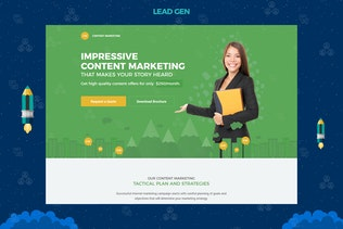Thumbnail for Content Marketing Unbounce Landing Page