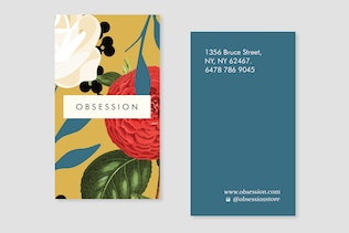 Thumbnail for Floral Obsession  Business Card Template