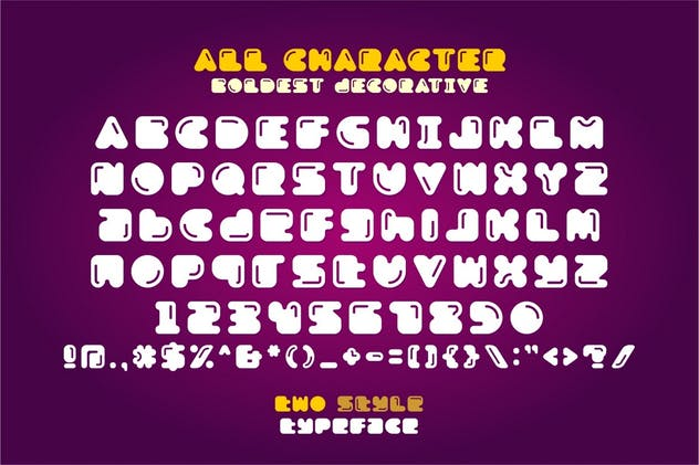 Boldest - Two Style Typeface