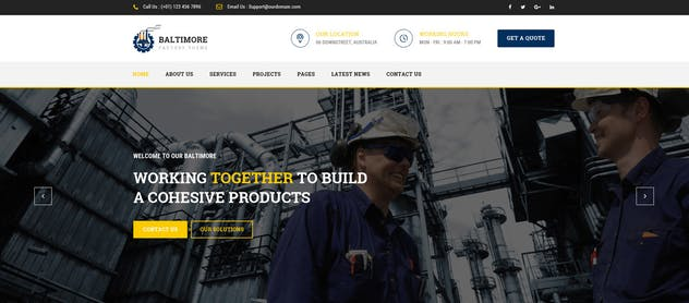 Baltimore : Factory PSD Template - product preview 1