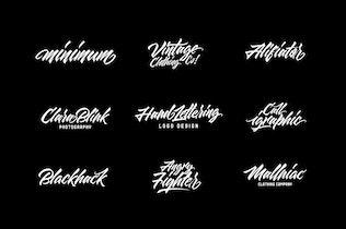 Thumbnail for Maqin Larisa Script Logo Font