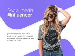 Thumbnail for Influencer Marketing PowerPoint Template