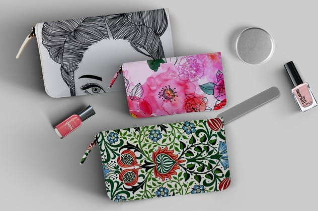 Makeup Pouch Mockup - product preview 6