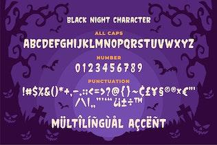 Thumbnail for Black night - Horror Typeface