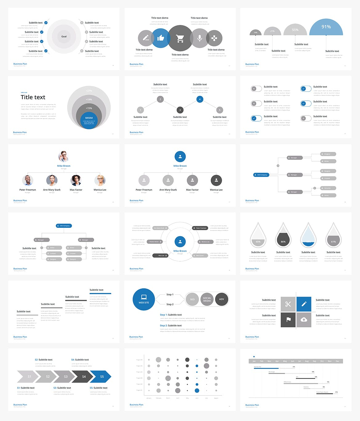 business plan multipurpose powerpoint template by site2max on