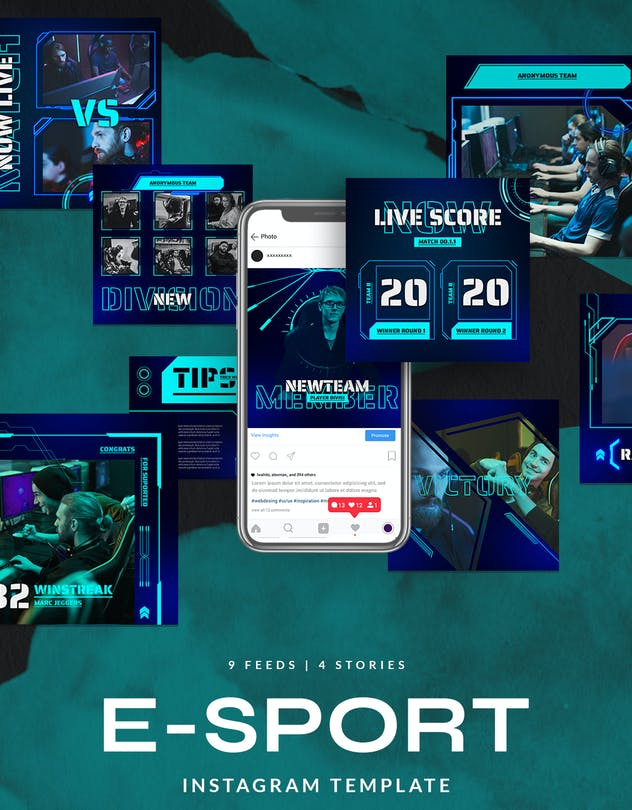eSport & Gaming Instagram Template V.06 - product preview 1