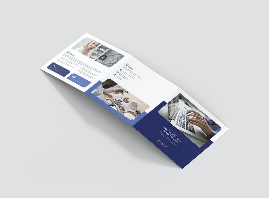 Brochure – IT Services Tri-Fold Square - product preview 1