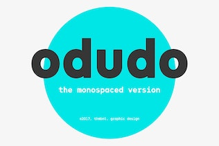 Thumbnail for Odudo Mono - Typeface