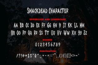 Miniature pour Smackdead - Polices de caractères en métal noir