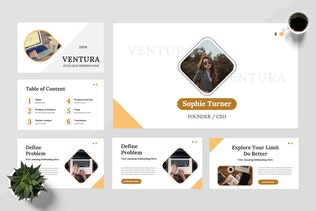 Thumbnail for Ventura - Startup Google Slides Presentation