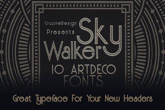 Skywalker - ArtDeco Typeface - product preview 3