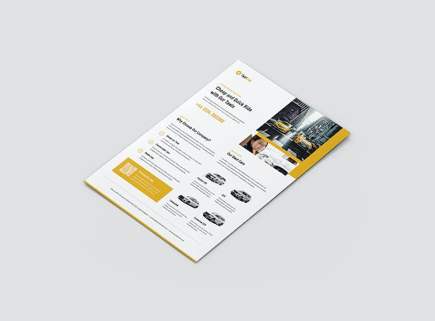 Taxi Cab – Brochures Bundle Print Templates 5 in 1 - product preview 1