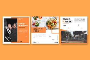 Healthy Lifestyle Instagram Post Template