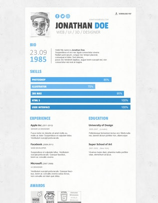 Thumbnail for Simple Resume/CV Template