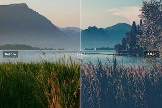 Vista en miniatura para Acciones de Photoshop de paisaje