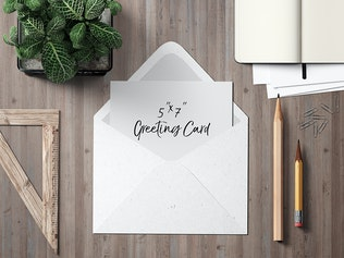 Thumbnail for 7x5 Greeting Card / Postcard Mockup Set 1