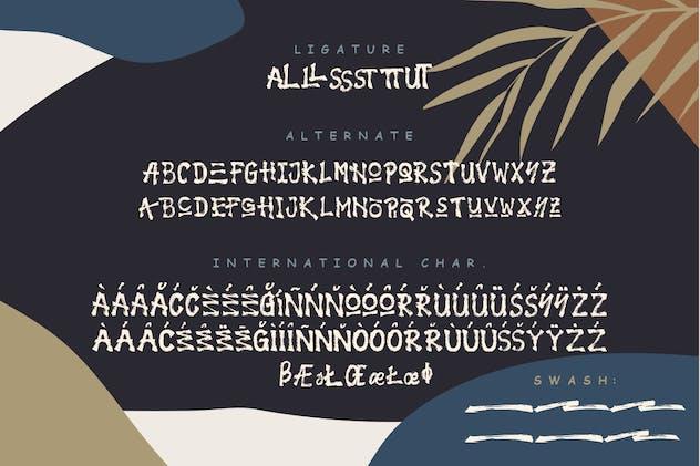 Jungle Handbrush Typeface