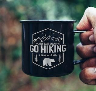 Mountain Camp Logos, Retro Hiking Badges T-Shirt