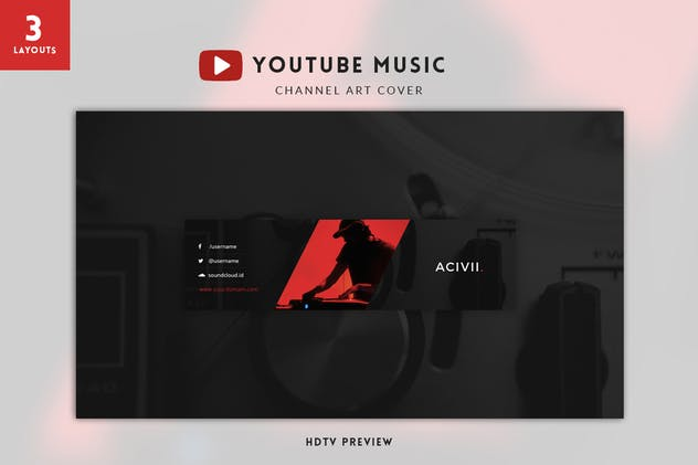 Youtube Music Channel Art - product preview 1