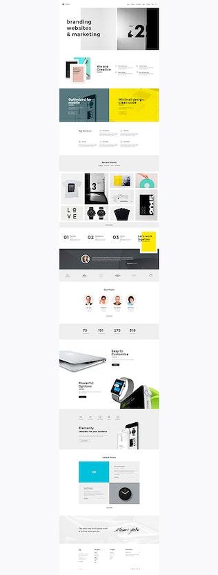 Thumbnail for Elementy – Multipurpose PSD Template