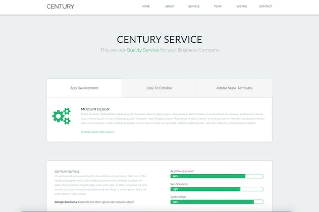 Century - Agency Multi Page Adobe Muse Template - product preview 2