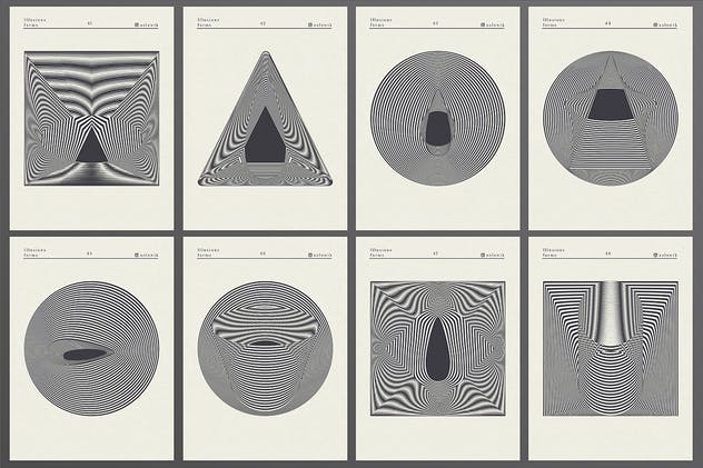 56 illusions forms abstract. Surrealistic optical - product preview 4