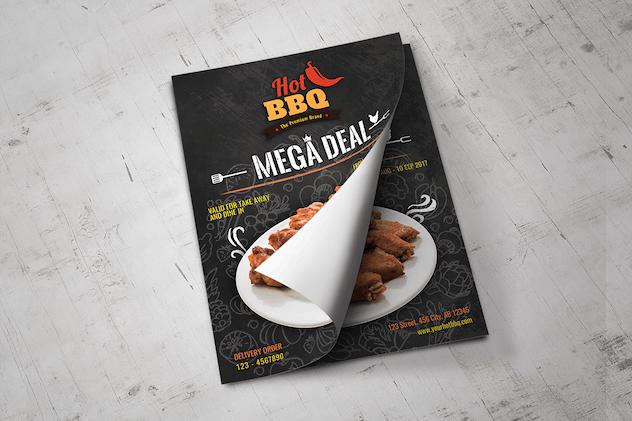 Hot Barbecue Mega Deal Promotion Flyer