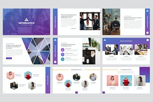 Thumbnail for Informatics - IT Company PowerPoint Template
