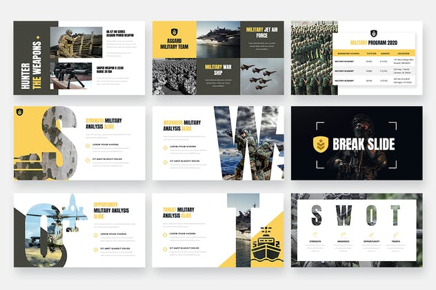 ASGARD - Military & Army Keynote Template - product preview 2